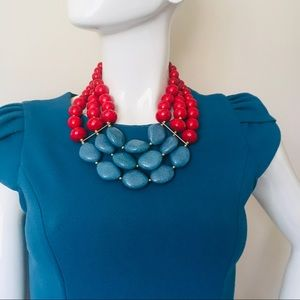 Bulky multi strand necklace